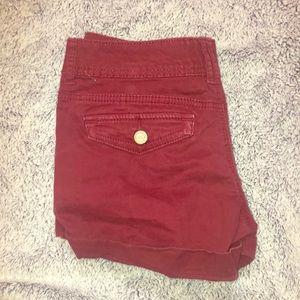 aeropostale maroon shorts.